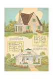 Single-Family Home, Rendering and Floor Plan Poster