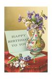 Vase with Violets Prints