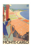 Travel Poster for Monte Carlo Premium Giclee-trykk