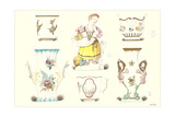 Sevres Porcelain Vases and Statue Posters