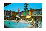 Motel Swimming Pool Poster