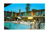 Motel Swimming Pool Kunstdruck