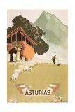 Travel Poster for Asturias, Spain Kunst
