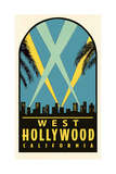 West Hollywood Decal Posters