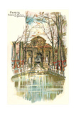 Medici Fountain, Luxemburg Park Prints