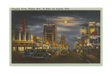 Wilshire Boulevard at Night Prints