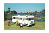 Motorhome at the Lake Posters
