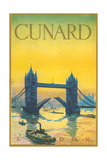 Cunard, Tower Bridge Travel Poster Print