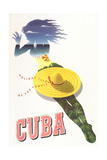 Travel Poster for Cuba Affischer