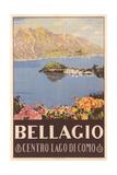 Bellagio Travel Poster Premium Giclee-trykk