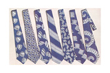 Blue and Gray Neckties Prints