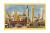 Manhattan Skyline from Staten Island Ferry Print
