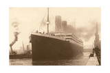Titanic at the Dock Poster