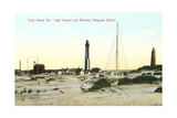 Cape Henry Lighthouses Print