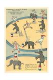 Vintage Circus Toys Print