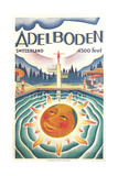 Adelboden Switzerland Travel Poster Art