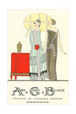 AGB French Fashion Illustration Posters