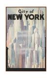 New York Travel Poster Premium Giclée-tryk