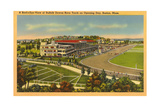 Suffolk Downs, Boston Print