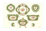 Sevres Porcelain Serving Dishes Print