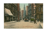 Vintage Milk Street Scene, Boston Posters