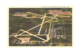 Overview of Tulsa Airport Print