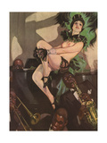 Naked Cabaret Woman Posters