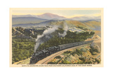 Train on Coast Range Tracks Posters