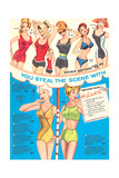 Fifties Bathing Suits Poster