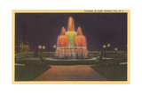 Fountain of Light, Atlantic City Print