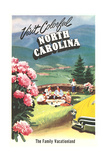 North Carolina Travel Poster Art