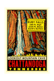 Chattanooga Decal, Ruby Falls Posters