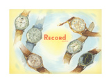 Record Swiss Wristwatches Prints