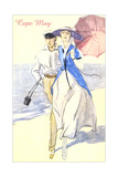 Couple on Beach, Cape May Posters