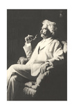 Mark Twain with Pipe Art