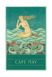 Cape May, Listening Mermaid Prints