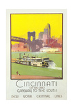 Cincinnati Travel Poster Poster