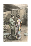 Two Geishas Talking Print