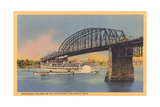 Bridge over Ohio River, Cincinnati Posters