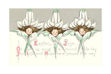 Cherubs with Lily Hats Poster
