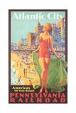 Atlantic City Travel Poster Prints