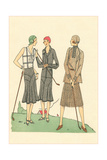 Fashionable Lady Golfers Poster