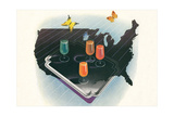 Juices across America Prints