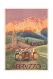 Travel Poster for Abruzzo Prints