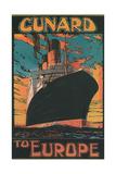 Cunard to Europe Art