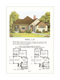 Model Home and Plan Poster