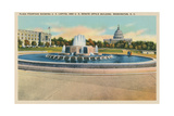 Plaza Fountain, Senate Office Building Prints