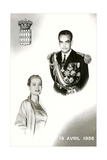 Prince Rainier III of Monaco and Grace Kelley Wedding Commemorative Posters
