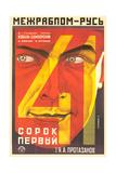 Russian 41st Film Poster Print