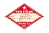 White Star Line Luggage Tag Posters